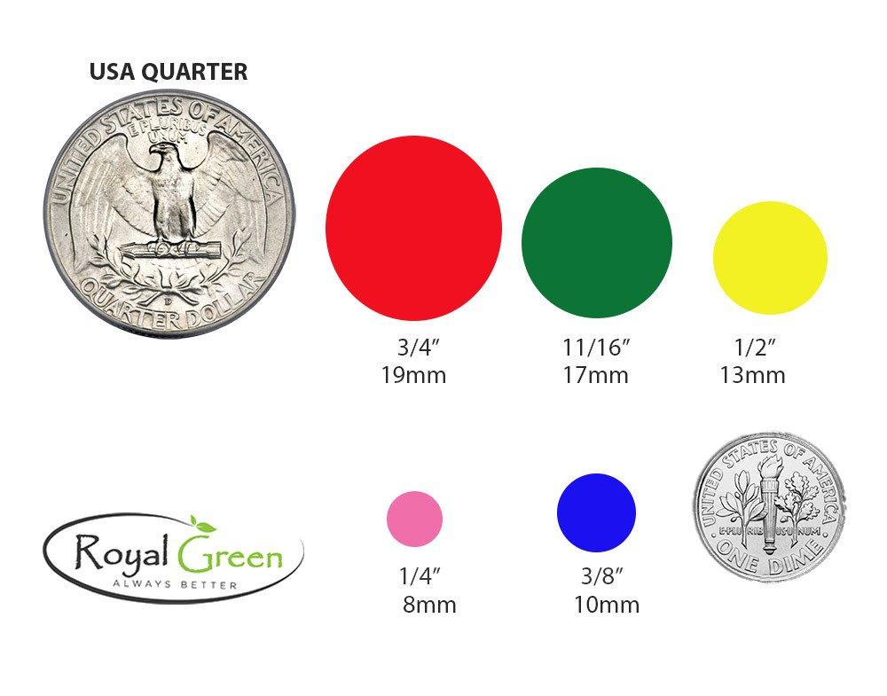 Color Coding Labels BLACK ~ 3//4 diameter 11//16 Rounds Dot Stickers size 0.69-17mm DOTS 336 pack