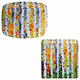 Foot Stools Poufs Chairs Round or Square from DiaNoche Designs by Karen Tarlton - Birch Trees