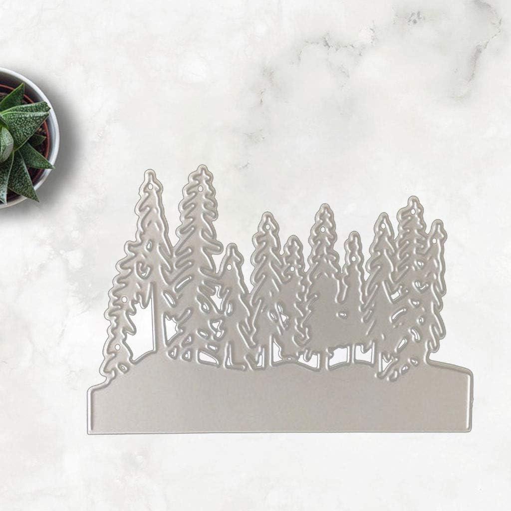 Metall Stanzformen Schablonen Scrapbooking Pr/ägeschablonen Handwerk Pr/ägen Papier DIY Herstellung Geschenk Cutting Dies Ncbvixsw Weihnachtswald DIY Stanzschablone