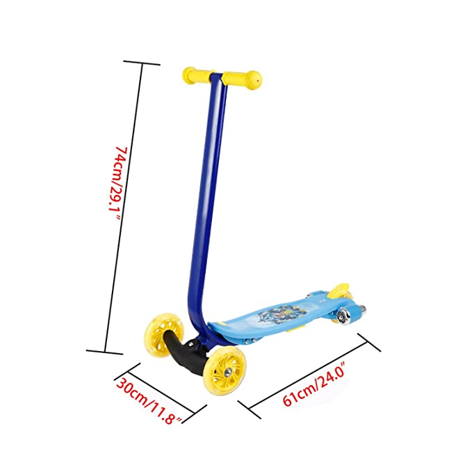 Amazon.com: Kemanner Kids Scooter Mini 3 Wheels Scooter for Girls Boys Children Toddler Micro T-Bar Toy Kick Scooter with Music and LED Wheels (US STOCK) ...