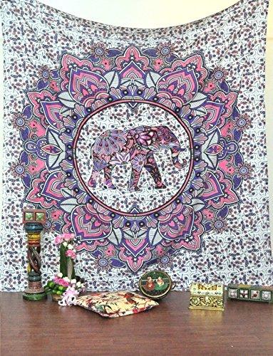 Raajsee christmas gift purple elephant mandala bohemian