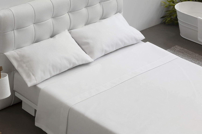 BURRITO BLANCO Juego de Sábanas Blanco de Hostelería para Cama de Matrimonio de 135 cm x 190/200 cm (Disponible en más Medidas): Amazon.es: Hogar