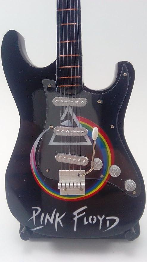 Guitarra Miniatura Colección - Mini Guitarra Pink Floyd - Miniaturas de Guitarras de Grupos musicales Famosos