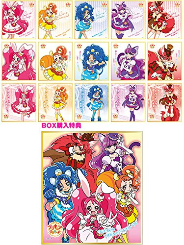 【特典】キラキラ☆プリキュアアラモード ビジュアル色紙コレクション ガムつき 初回限定版 15個入りBOX (食玩)