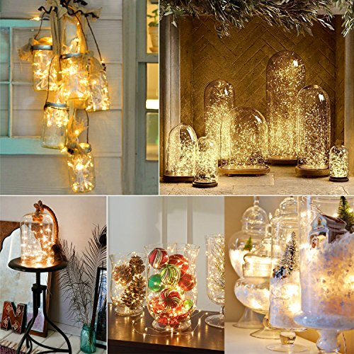 Dimmable LED String Lights,Oak Leaf 19.7ft 60 LEDs Waterproof Super Bright LED Fairy Starry ...