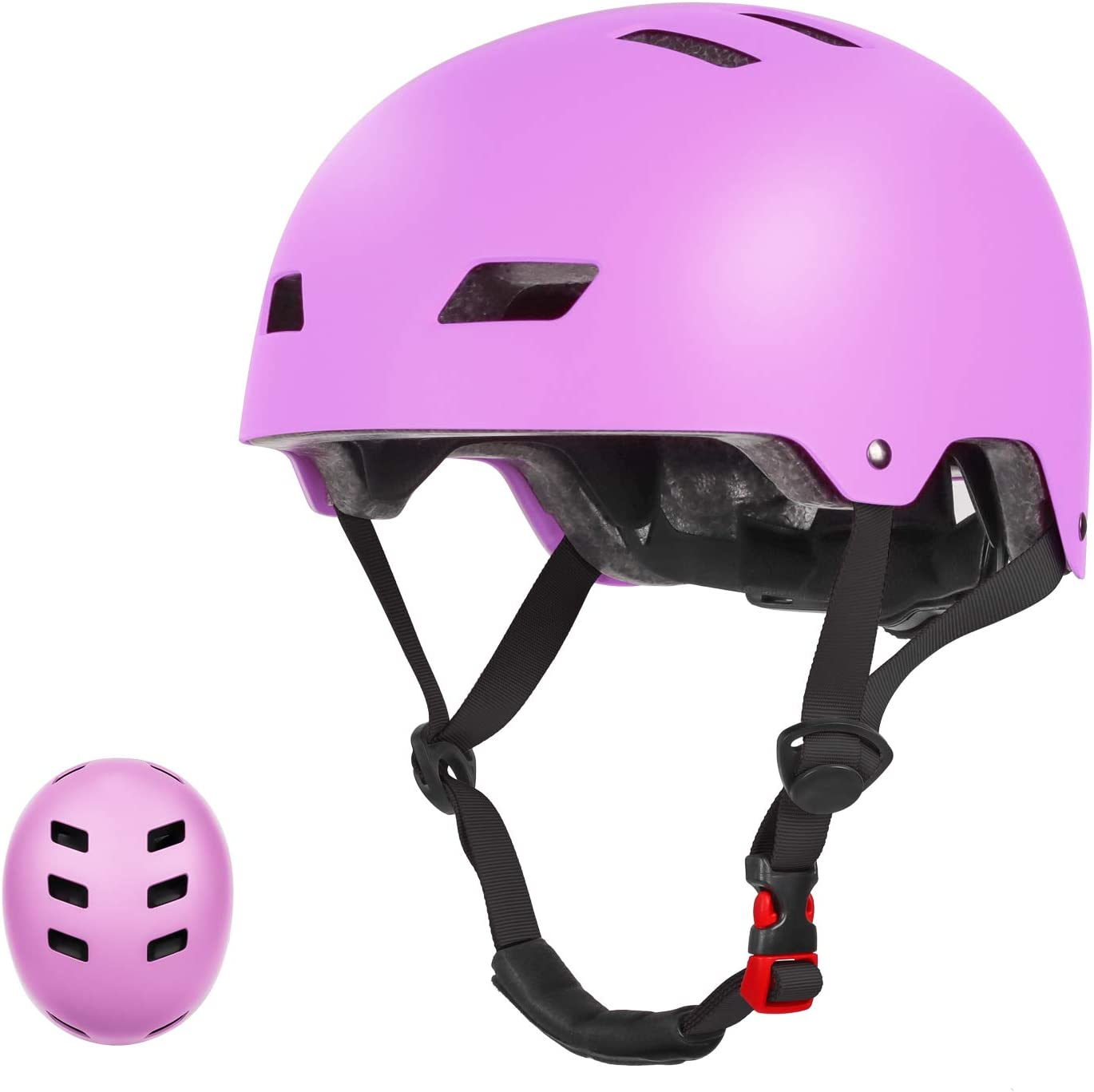 CPSC Certified Adjustable Helmet LANOVAGEAR Toddler Bike Helmet for Kids Youth 2-14 Years Old Girls Boys for Cycling Scooter Skating Rollerblading