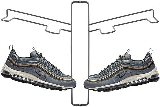 Una alternativa al mueble zapatero que ahorra espacio etc Zapatero de pared ajustable para tres pares de zapatillas gris calzado deportivo mDesign Organizador de zapatos