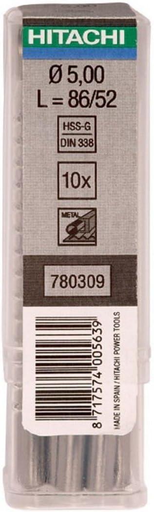 /780403/Drill Bit for Metal hss-din 338/Multipack 5/You 12.8/x 151/mm Long Util 101/mm Hitachi/