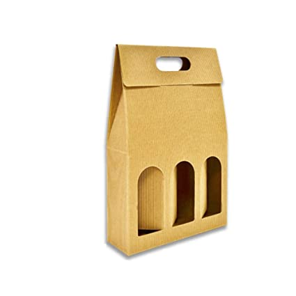 Unidades 5 - Caja botellero de vino - 3 Botellas: Amazon.es ...