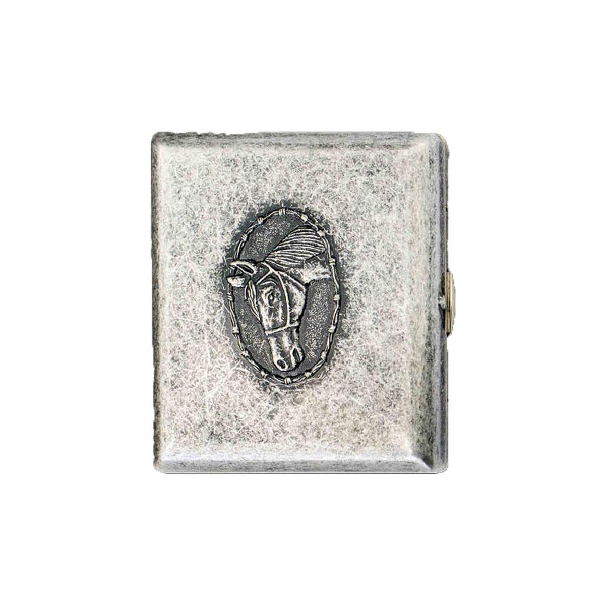 ZHONGYUE Cigarette Case, Metal Creative Cigarette Case, 20 Capacity, Men's Cigarette Case Unique Design, Sturdy and Lightweight. (Color : Silver)