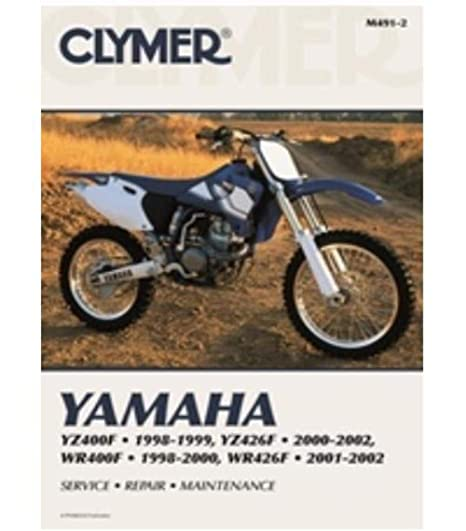 amazon com: clymer repair manual for yamaha yz400/426f wr400/426f 98-02:  automotive