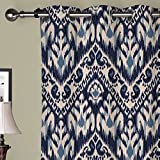 IYUEGO Vintage Chinese Ink Painting Pattern Grommet Top Lined Blackout Curtains Draperies With Multi Size Custom50 W x 96″ L (One Panel)