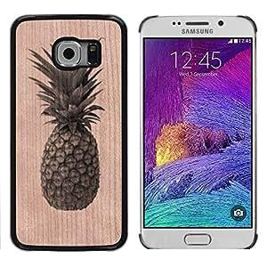 // MECELL CITY PRESENT // Cool Funda Cubierta Madera de cereza Duro PC Teléfono Estuche / Hard Case for Samsung Galaxy S6 EDGE /// Pineapple Weed Cannabis Fruit ///