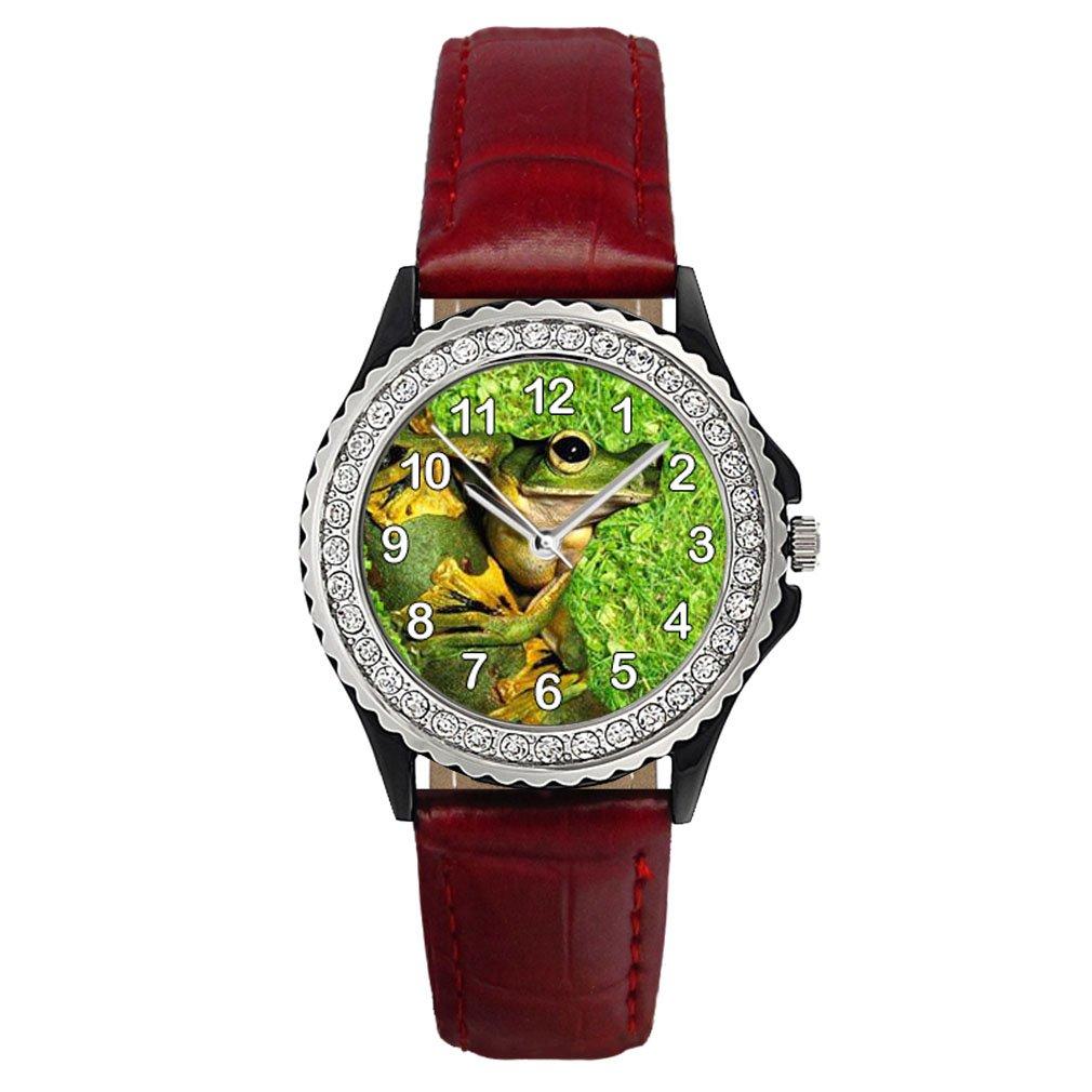 Timest - Rana - Reloj del Cuero Rojo para Mujer con ...