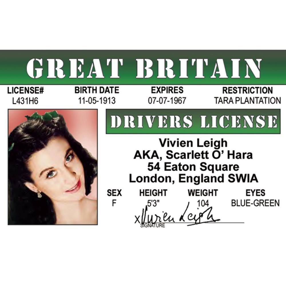 Signs 4 Fun NCGID2 Vivian Leighs Drivers License