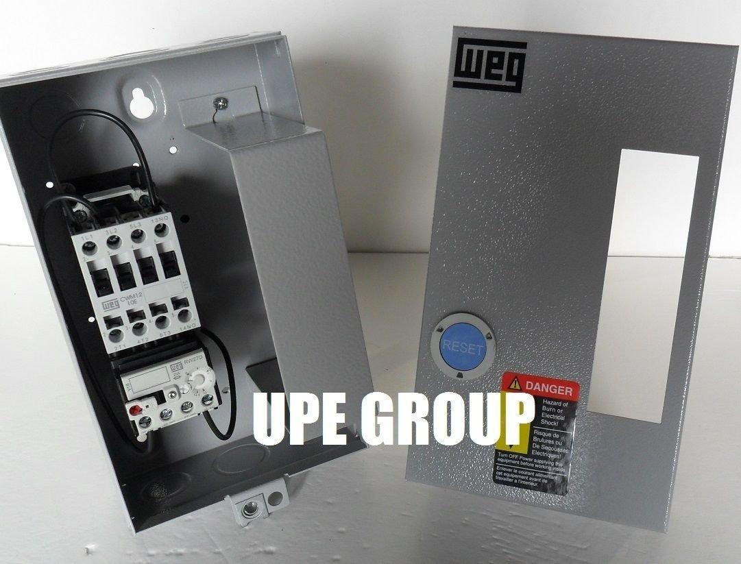 Weg 75 Hp 460vac Magnetic Starter For Electric Motor Air Comrpessor 220 440 Wiring Diagram 3 Phase 460v 12amp