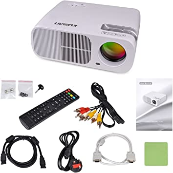 Kuman HD Proyector LED WiFi Mini Cine en Casa Multimedia 3D 2600 ...