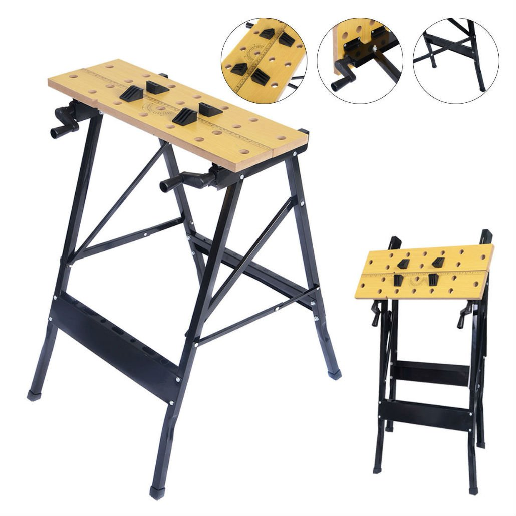 Folding Work Bench Table Tool Garage Repair Workshop by Unknown (Image #1)