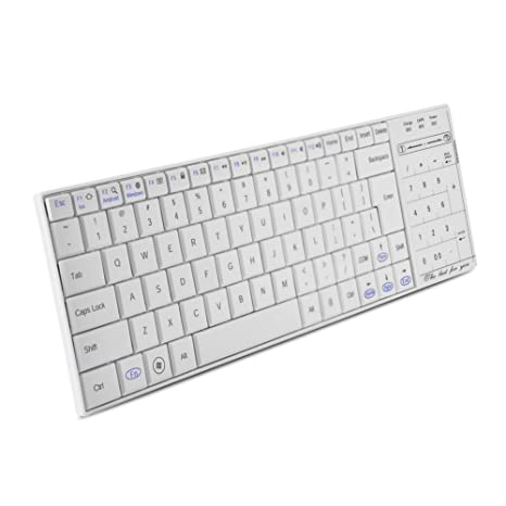 Richer-R Teclado Inalámbrico Bluetooth,Teclado con Multi-touchpad,2 en 1