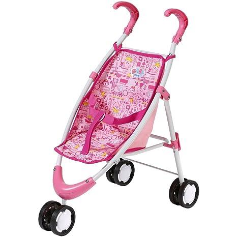 Baby Born – Carrito de golf color rosa patrón con varios animales sobre la amortiguación