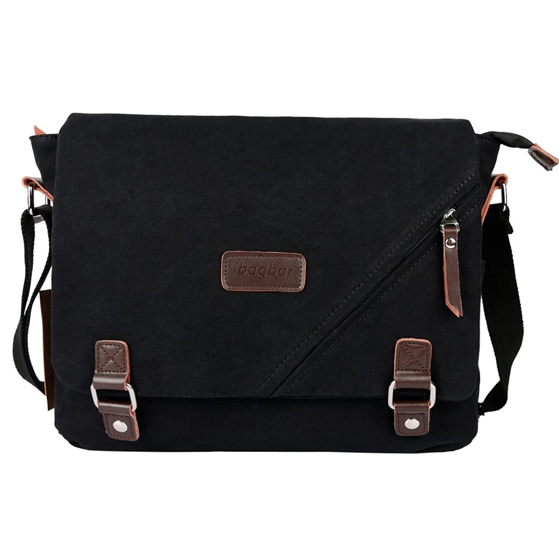 ibagbar canvas messenger bag shoulder bag laptop bag