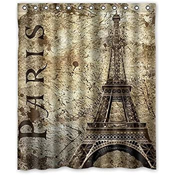 Amazon Com Uphome 72 X 72 Inch Retro Vintage Paris Eiffel