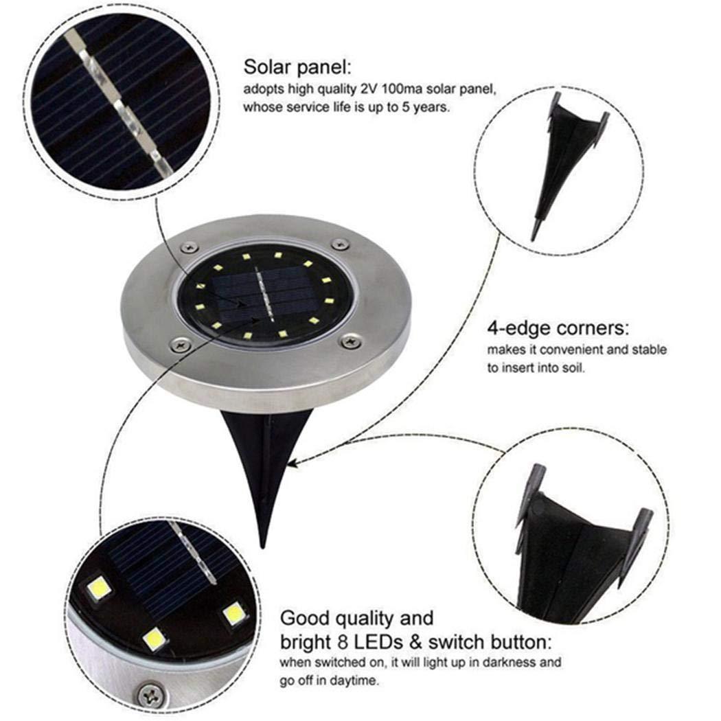 ZEARO Solar Power LED Walkway Lights Path Garden Underground Light Solar Lights