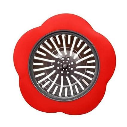 Redpol Creative Floral Shape Strainer Hair Catcher Bathtub