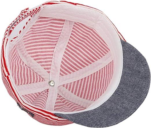 Snyemio Gorra de B/éisbol Beb/é Rayas Sombrero del Sol Anti UV Verano para Ni/ño Ni/ña