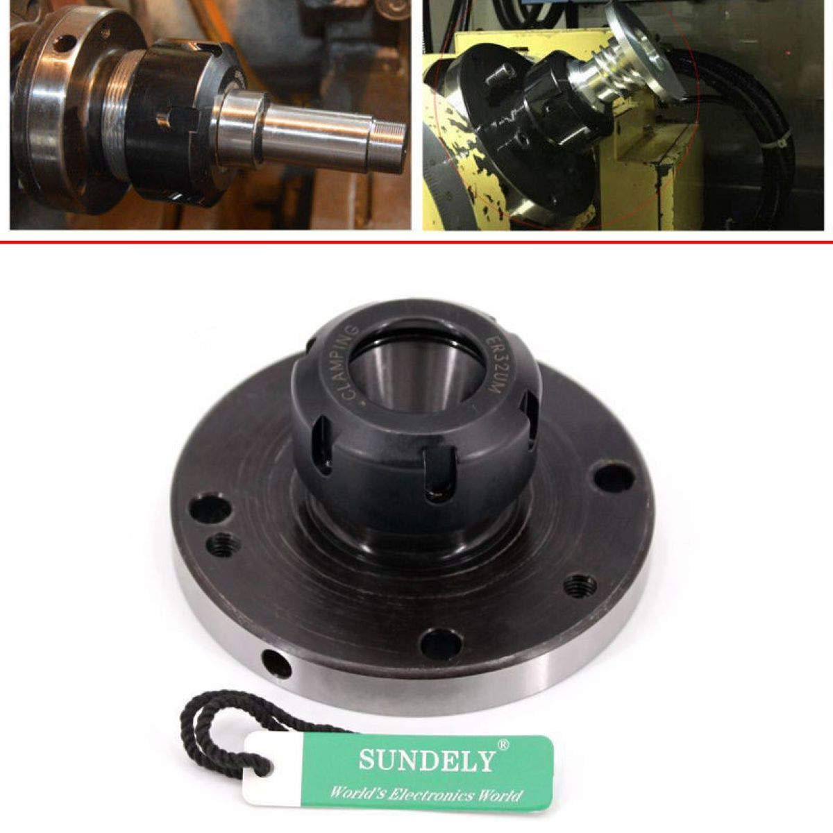 SUNDELY/® ER-32 Collet Chuck 100MM DIAMETER Compact Lathe Tight Tolerance For Milling
