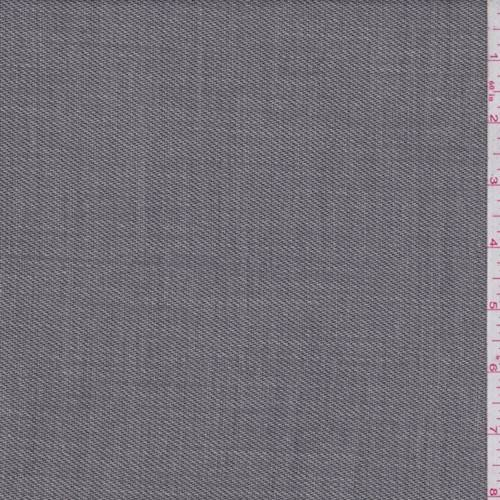 Grey Streaked Wool Blend Suiting, Fabric by The Yard - Wool Blend Suiting
