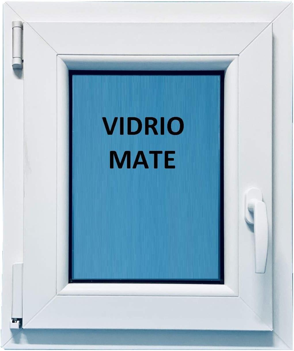 (V02M) Ventana Pvc Baño 500x600 Oscilobatiente Izquierda Climalit Mate