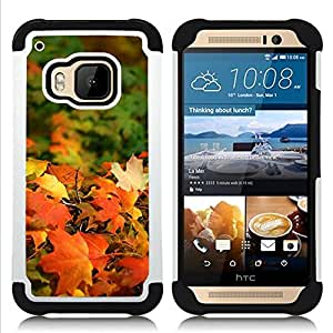 For HTC ONE M9 - fall sun golden brown autumn maple Dual Layer caso de Shell HUELGA Impacto pata de cabra con im??genes gr??ficas Steam - Funny Shop -