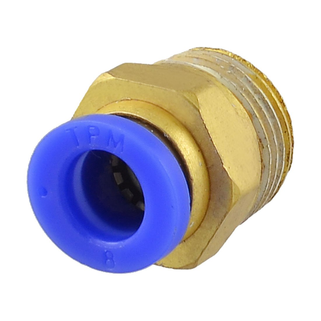 3/20, 3 cm PT rosca macho de 8 mm tubo presionar Connect lisos de fijació n rá pida 3cm PT rosca macho de 8mm tubo presionar Connect lisos de fijación rápida Sourcingmap a13030600ux1104