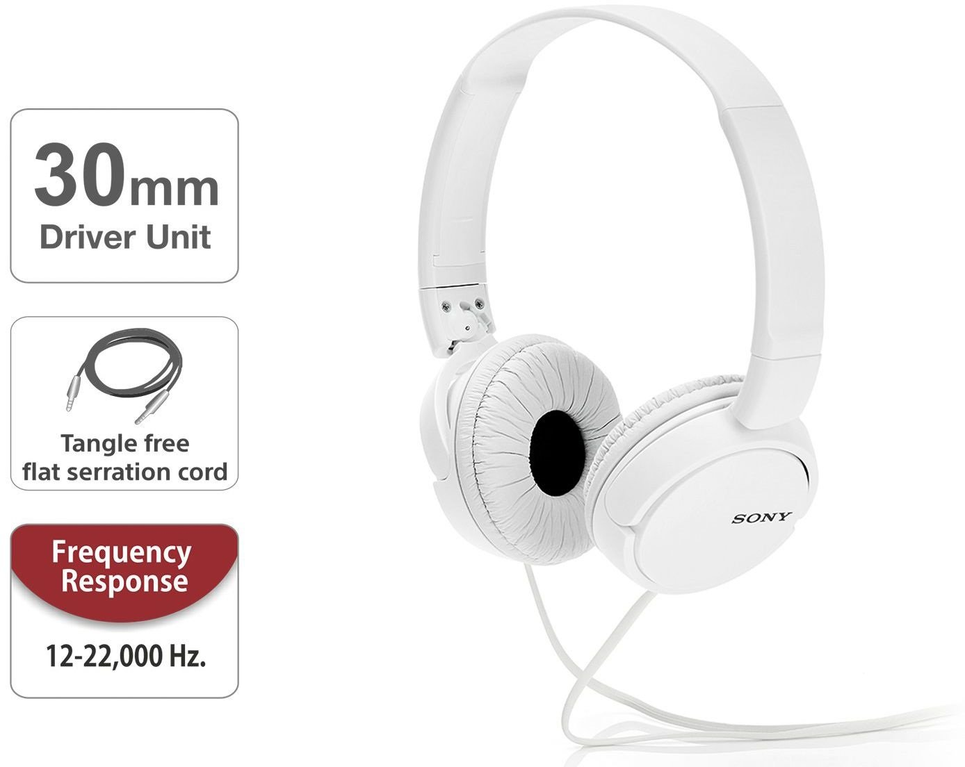 e08e9cd8b0d Sony MDR-ZX110A On-Ear Stereo Headphones , without mic: Amazon.in:  Electronics