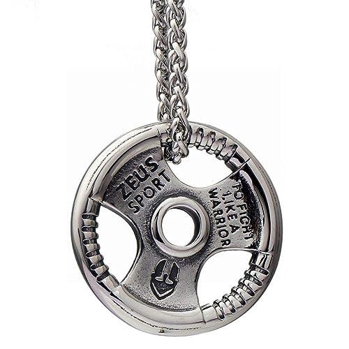 Amazon.com: JIN - Collar con colgante de acero de titanio ...