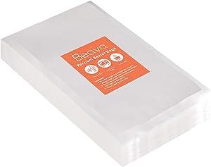 Vacuum Sealer Bags 100pcs, Beava 6x10 Inch Precut Vacuum Sealer Bags for food, Embossed Commercial Grade Food Saver Bags for Seal a Meal, Sous Vide Cooking or Meal Prep