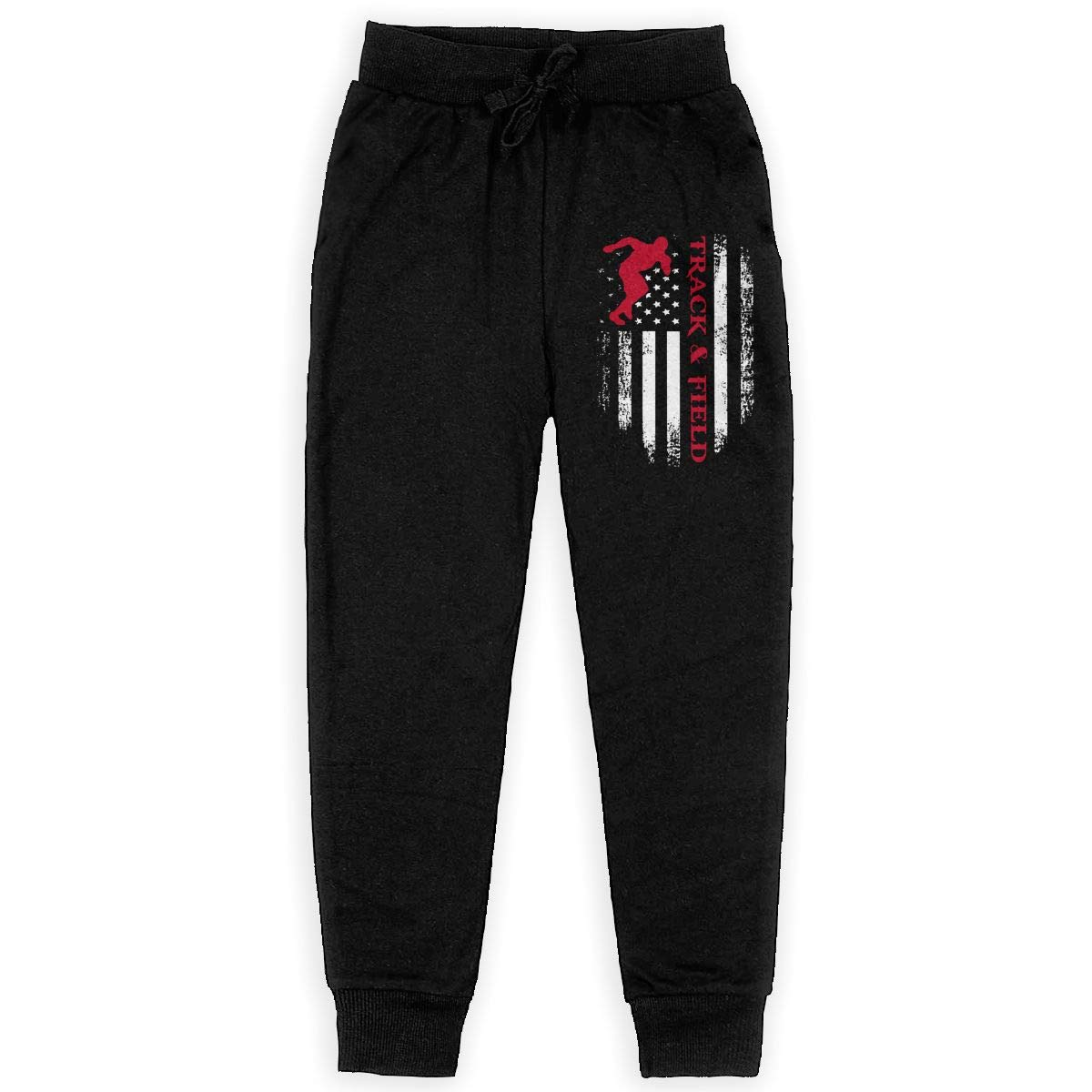 MAOYI/&J6 American Flag Track and Field Long Sweatpants Youth Boys Girls Jogger Trousers with Pockets