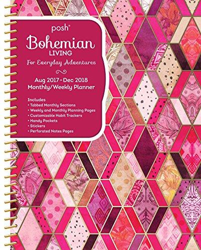 Collegiate Weekly - Posh: Bohemian Living 2017-2018 Monthly/Weekly Planning Calendar