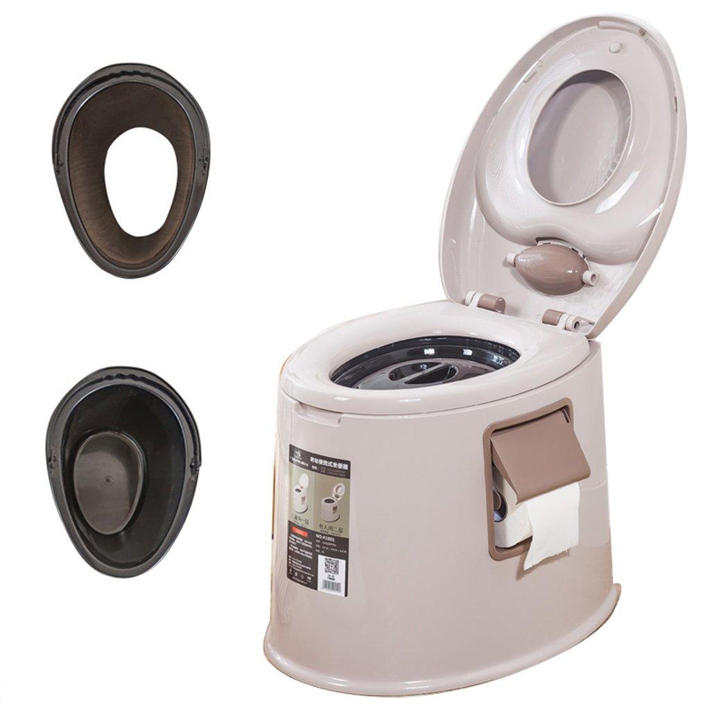 軽量でポータブルなキャンプ用トイレは、屋内と屋外のLooに適していますキャンプキャビンのピクニック釣りとフェスティバルダブルクラムシェルダブルバレル (色 : ブラウン ぶらうん) B07CXMCZ7T ブラウン ぶらうん ブラウン ぶらうん