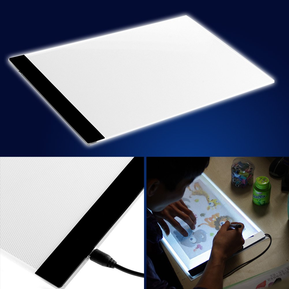Amazon.com: Arich A4 LED Tracing Light Box USB Power Thin Light ... for Drawing Table With Light  70ref