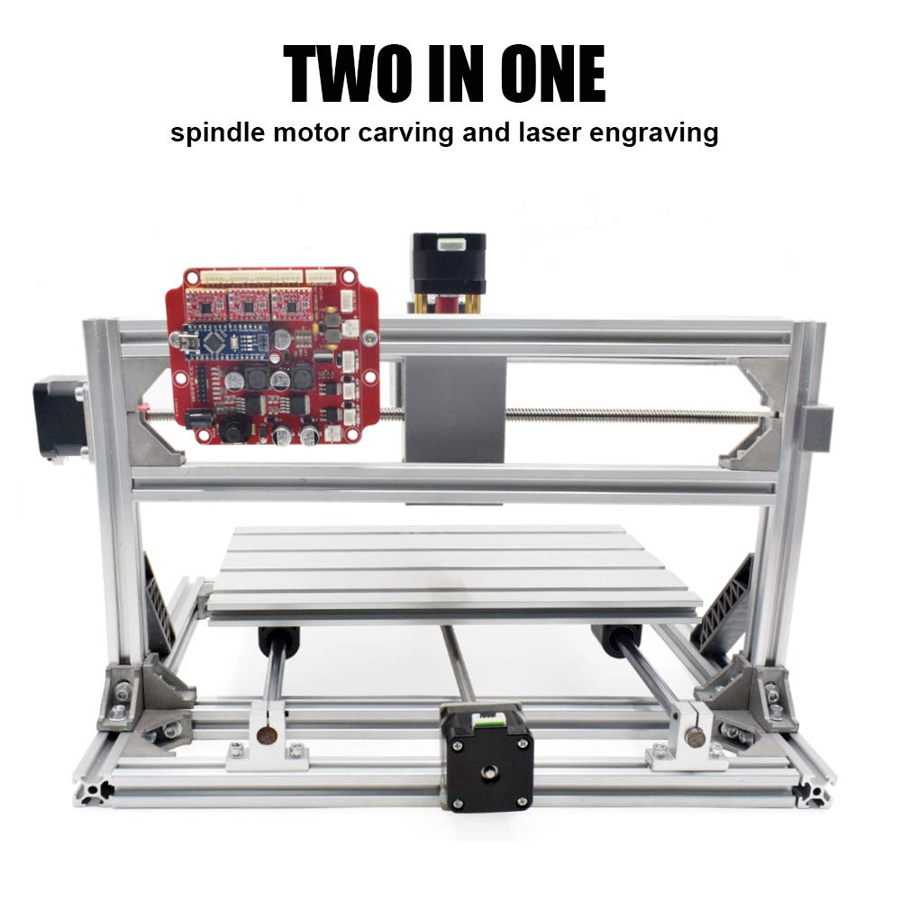 2 in 1 Laser Cutting and Engraving Machine 500mW Class 4 Desktop CNC3018 for Wood, Acrylic & PVC. Made for Small Business and Creative Talents by FASTTOBUY (Image #3)