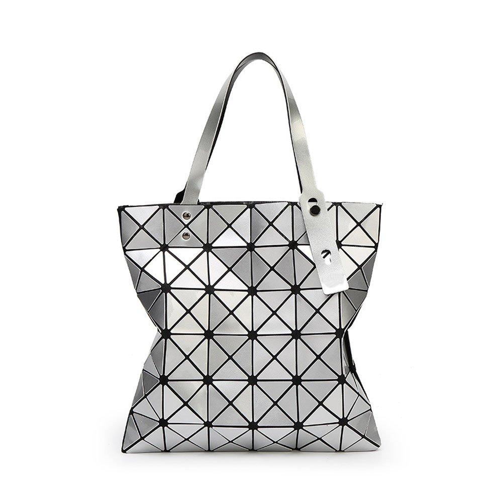 ZENTEII Women Faux Synthetic Leather Diamond Lattice Handbag 010681YIN