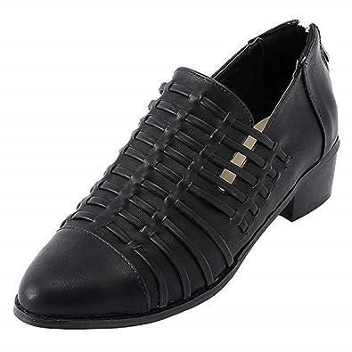 Automne Ville Rétro Escarpins Block Femme Chaussures Cuir Élégant y7fYbg6