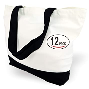 TOPDesign 12 bolsas de lona de algodón superfuertes, grandes, 12 ...