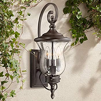Carriage Traditional Outdoor Wall Light Fixture Led Bronze