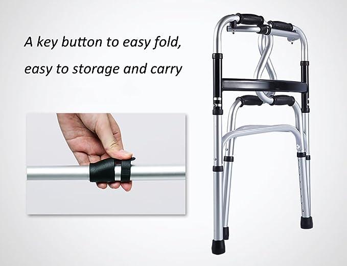 andador plegable ayuda para caminar de rehabilitación de anciano ...