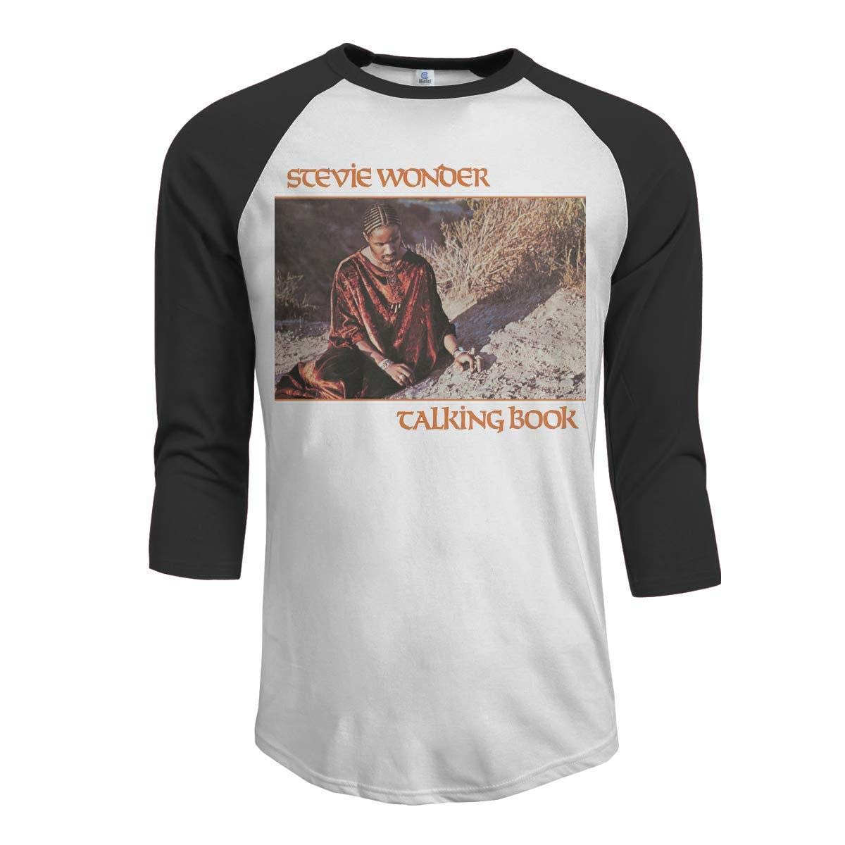 Zpanter Stevie Wonder Talking Book S 34 Sleeve Raglan Baseball Tshirts Black