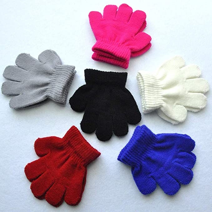 1-3 Years Old BaiX Toddler Boys and Girls Winter Knitted Writing Gloves