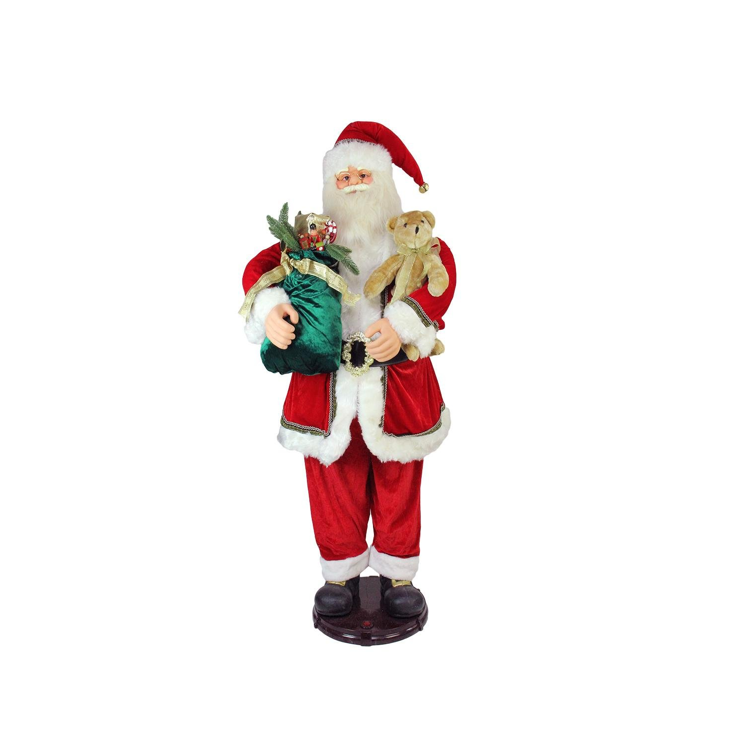 Northlight 5' Deluxe Traditonal Animated and Musical Dancing Santa Claus Christmas Figure by Northlight